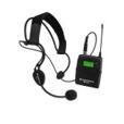 Für Moderationen oder lange Führungen durch eine Person empfehlen wir für den Sprecher ein sogenanntes Headsetmikrofon.